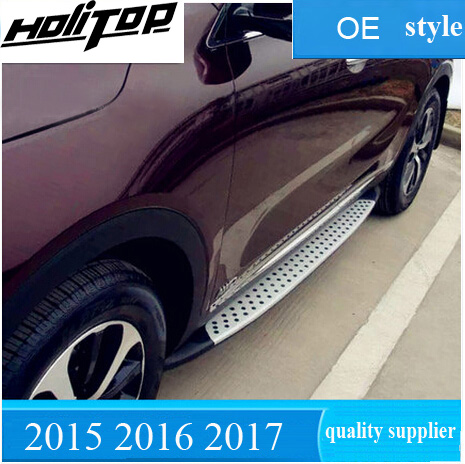 Hot strong side step nerf bar running boards for KIA Sorento 2015 2017 powerful enough can
