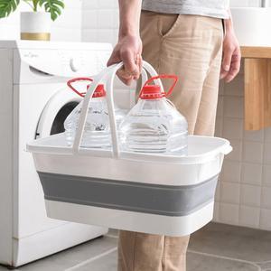 Портативное складное ведро для швабры складной умывальник для посуды с ручкой складное ведро Seau Pliant для кемпинга и рыбалки