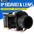 """H.265/H.264 МПК С Переменным Фокусным Расстоянием Моторизованный Зум-Объектив 4MP/3MP HD 1/3 """"SONY CMOS Hi3516D IP CCTV Модуль Камеры + 2.8-12 мм Зум-Объектив"""