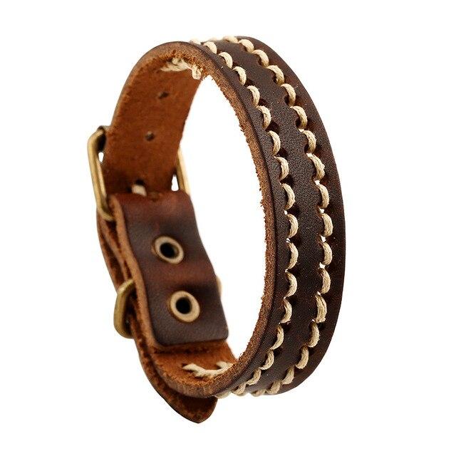 Leather Bracelet Retro...