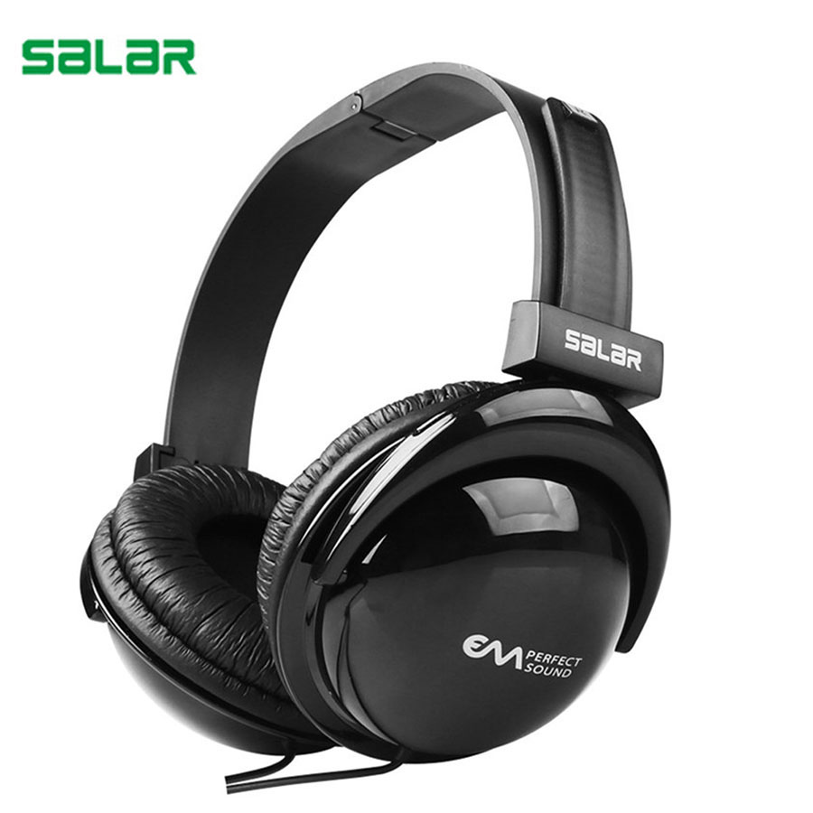 Salar 3.5mm Wired Gaming Headset For iphone 5 6 7 Samsung Smartphone Computer Headphone Foldable Over Ear Stereo Bass Headphones salar em300 sport headset suitable for computer phone tablets portable headphones over ear stereo hifi earphones