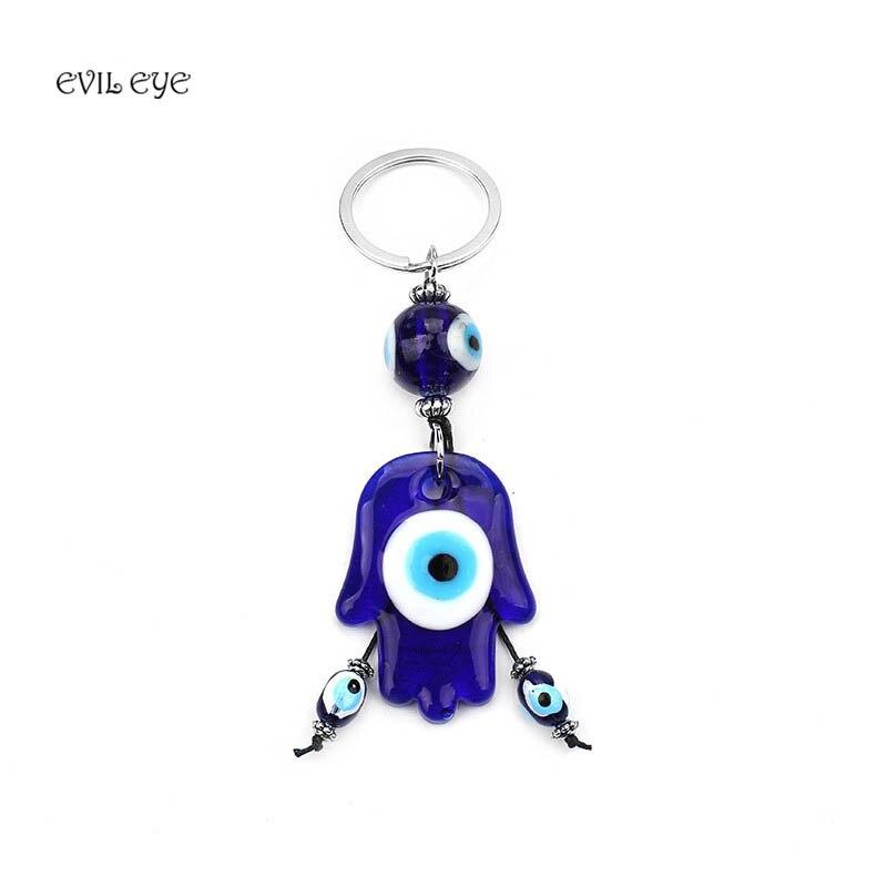 1 Stücke Klassische Blaue Hasma Pendent Mit Evil Eye Schlüsselanhänger Quaste Charme Schlüsselring Dekoration Schmuck Fortgeschrittene Technologie üBernehmen