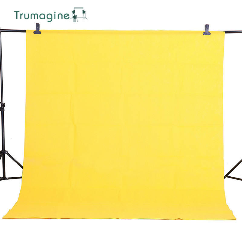 TRUMAGINE 1 6X4M Non Woven Photo Background Studio Yellow Screen Chroma key Backgrounds Photography Backdrop Solid Colors in Background from Consumer Electronics