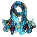 Fashion Floral Silk feeling print Scarf New arrive all-season High Quality Scarf Pashmina 200*110cm big size