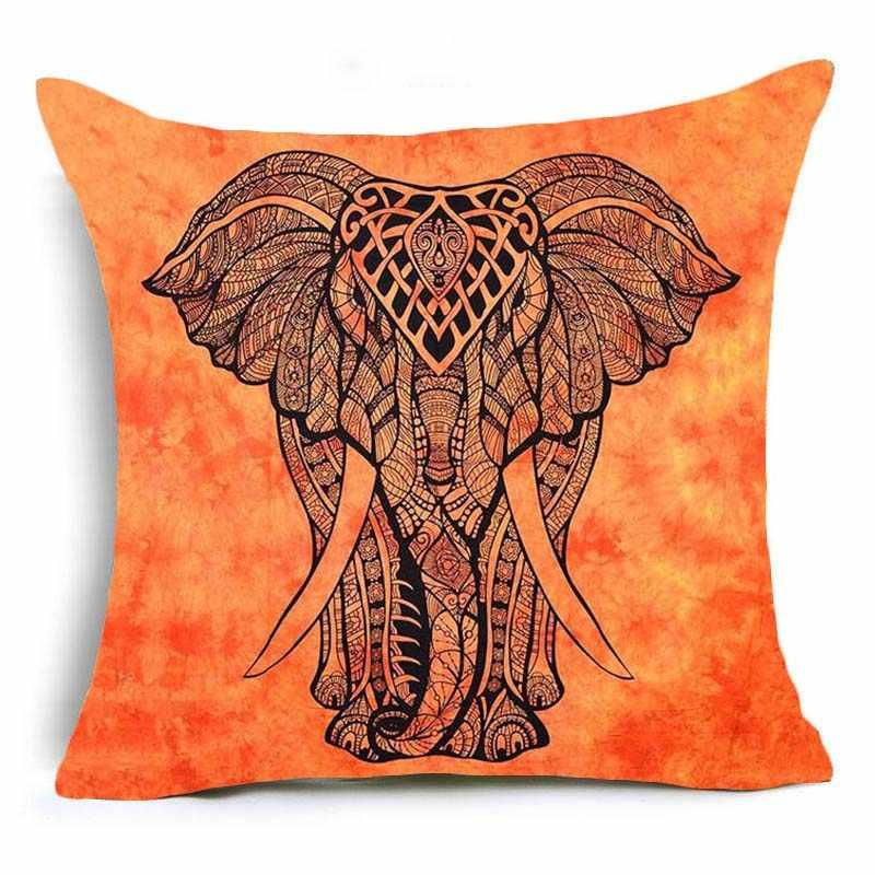 Hyha в Богемном Стиле С Рисунком Слона чехол для подушки из полиэстера индийские Стиль размером 45*45 см привязанность Декор для дома с изображением животных Подушка для дивана класса люкс