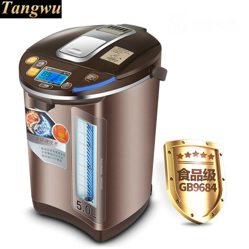 Thermos elettrico 5l isolamento termostato di casa in acciaio inox 304 bollitore elettrico