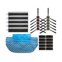 цена на Mop Cloth+Filter+Brush+Sponges+Magic Paste For Ecovacs Deebot Robot Dk33 Dk35 Vacuum Cleaner Parts