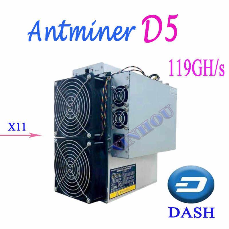 Шахтерная микросхема Bitmain Antminer D5 119G тире X11 с Питание лучше, чем D3 T9 S9 DR3 WhatsMiner M3X D1 Байкал BK-G28