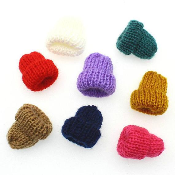 25 unids accesorios de decoración lana de punto y ganchillo mini ...