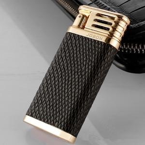Image 1 - 2018 New Leather USB Thunder Lighter Rechargeable Electronic Cigarette Plasma Double Arc Palse Pulse Gadgets Shake Ignition