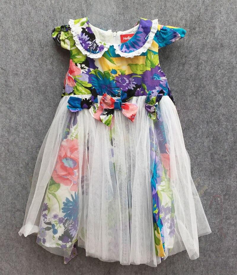 0d2932e82c5 Летнее платье из тюля с цветочным принтом платье для девочек три милых  платья для девочек от 2 до 6 лет платья принцессы кружевные платья с ба.