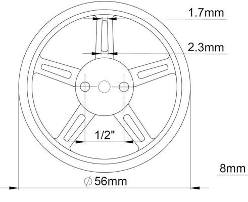 Feetech FS90R Servo Wheel FZ2913 (2)