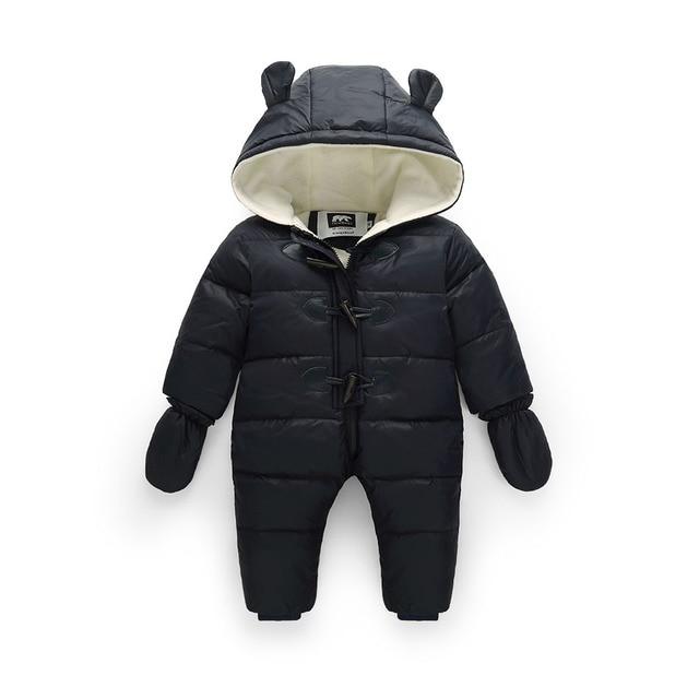-30 Русская зима мальчик snowsuit 90% утка вниз детские зимние водонепроницаемая куртка + флис толстый комбинезон для детей женская куртка