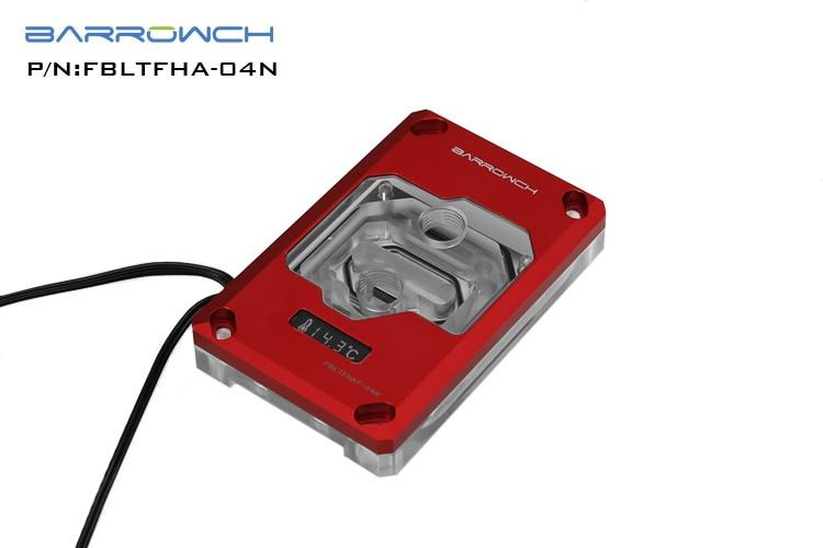 Купить с кэшбэком BARROW Water Cooling Radiator CPU Block use for AMD RYZEN AM3 AM4 RGB Aurora Light OLED Digital Display Temperature Block