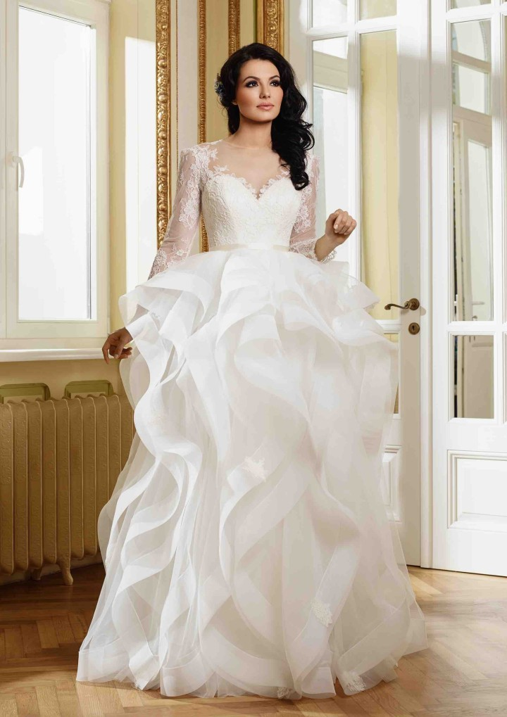 Long Sleeves Wedding Dress With Zipper Lace Wedding Dress ...