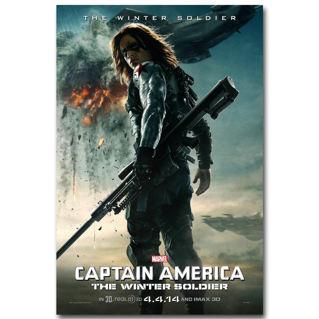 Captain America 2 The Winter Soldier Movie Silk Poster 13x20 24x36 Black Widow