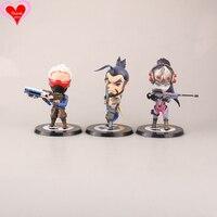 Amor Gracias OW en juego Soldado reloj 76 Hanzo Widowmaker linda figura de juguete Modelo de objetos de Colección regalo de la muñeca