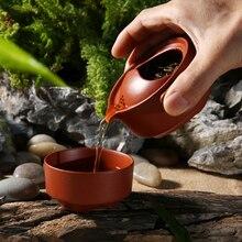 China Zisha teekanne, 1 teekanne 1 tasse Kung Fu tee-set anzüge, büro reise tragbare tee-sets Kung Fu teekanne tee tassen zubehör