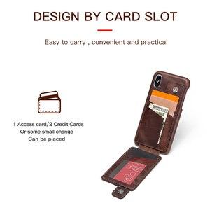 Image 2 - עבור iPhone X נרתיק עור מגנטי Flip ארנק מקרה עבור iPhone X אמיתי עור כיסוי Coque Fundas כרטיס חריץ הגנה כיסוי