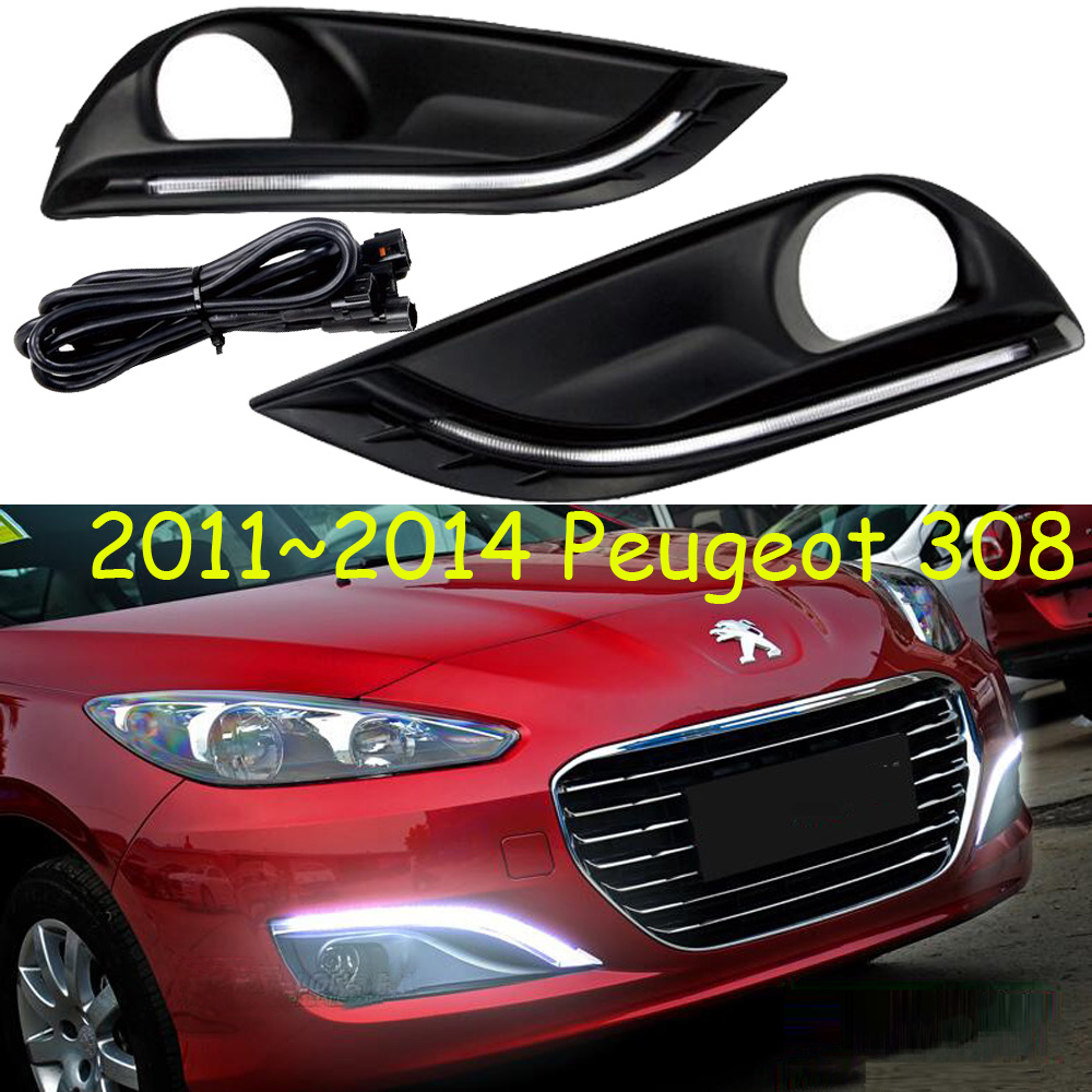 Peugeo 308 daytime light;2012~2015, Free ship!LED,Peugeo 308 fog light,206 307 3008 4008 508;Peugeo 308;3008