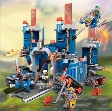 2017 новая модель 1240 шт. nexus рыцари fortrex замок строительный Блок Глины Аарон Лиса Axl Совместимые Кирпичи Игрушки Для дети