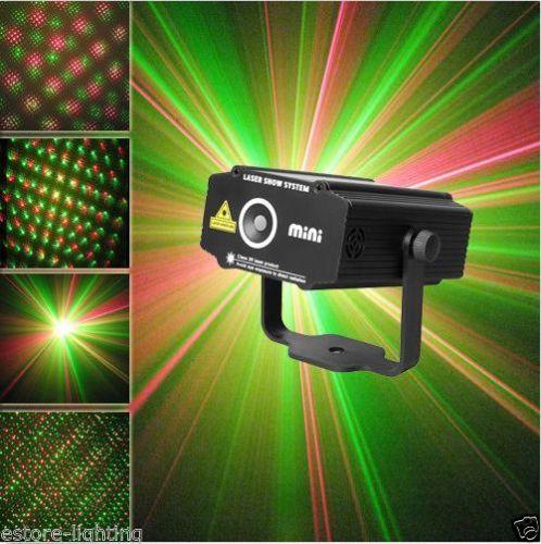 Мини GR DJ танец ну вечеринку этап лазер огни праздник красный-зеленый цвет освещение