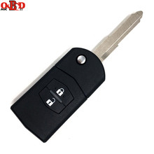 HKOBDII 433MHZ For Mazda 2 Buttons Flip Remote Car Key with 4D63 chip M2,Hot!High quality