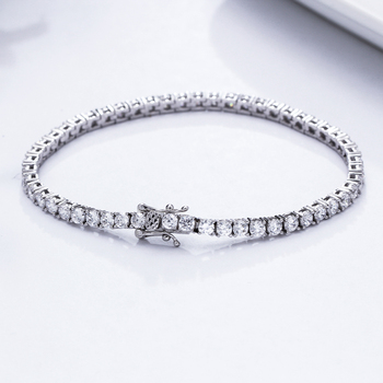 Classic 17.5 cm tennis bracelets Real 925 silver jewelry 2mm 3mm 4mm 5A Zironia Eternal wedding luxury sterling silver Bracelet 2