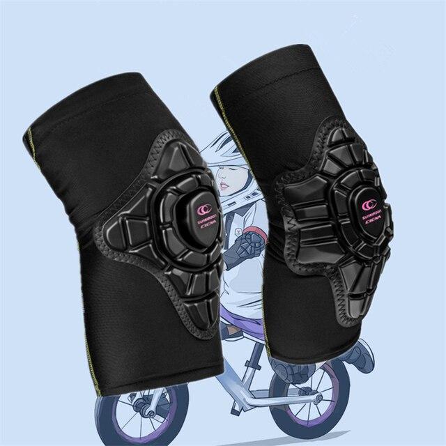 4 יח\סט 2 10 שנה ישן ילדים רכיבה על משטח הברך ומרפק רפידות איזון אופני ילדי מגן Kneepad משמר מרפק בטיחות ציוד
