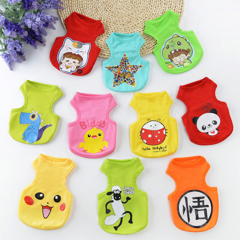 Cartoon style dog vest puppy NBA jersey dog clothes spring and summer T-shirt image