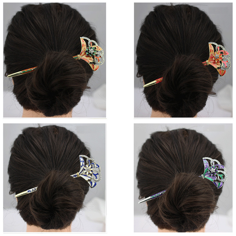 Five Colors Korea Hair Ornaments Hairwear For Women or Bridal Ancient Classical Color Draw Hairpins 1