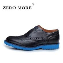 Zero более моды Высококачественные мужские туфли удобные повседневные Осень натуральная кожа мужская обувь скольжения на бизнес обувь черный/коричневый