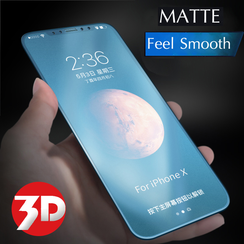 3D Curved Edge Full Cover Matte Screen Protector For IPhone X Xs Max XR 11 Pro Max Frosted Anti Blue Ray Light 9H Tempered Glass