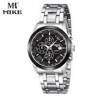 MK Mike Business Watch Mens Orologi Top Brand Di Lusso Wrist Watch Stainless Steel Waterproof Relogio