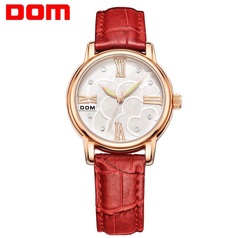 women watches DOM luxury brand waterproof style quartz leather fashion watch reloj G 1028GL 4M