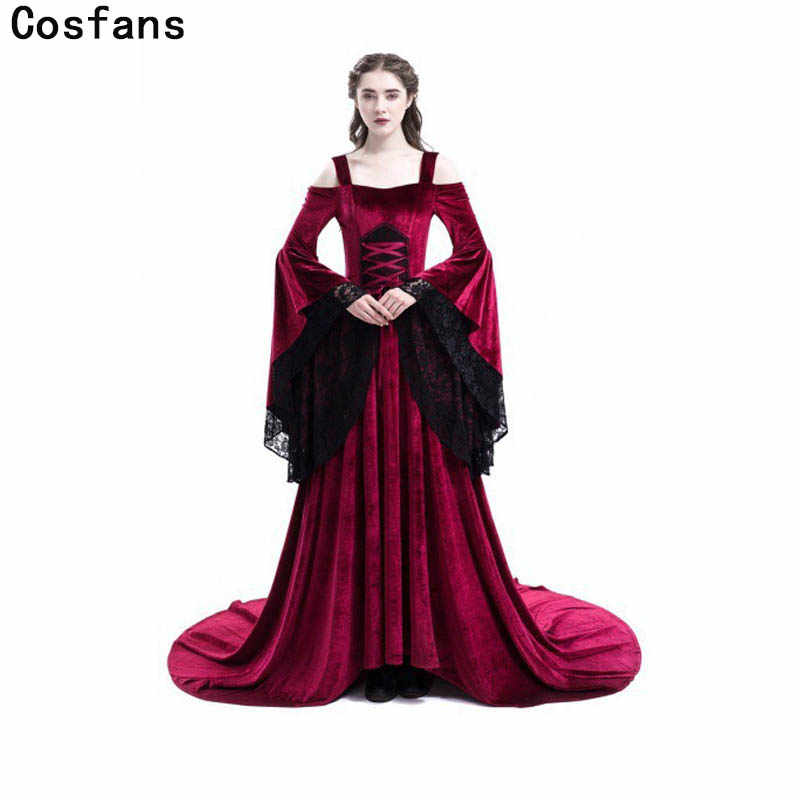 Detail Feedback Questions about Cosplay Halloween Dress Medieval Palace  Princess Dress Adults Women Gothic Queen 2018 Plus Size 4xl 5xl Party  Halloween ... 1fdb449678d0