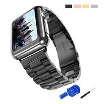 1 самых продаваемых черный три ссылки прочной нержавеющей стали металла ремешок для Apple , часы 38 мм 42 мм