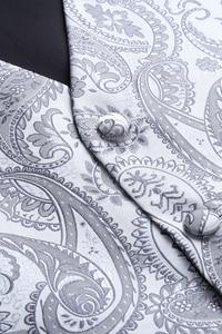 Image 4 - Mens Classic Paisley Jacquard Waistcoat Vest Handkerchief Party wedding Tie vest Suit  Pocket Square Set