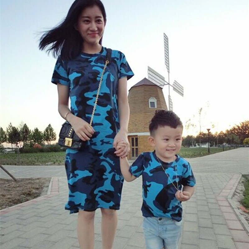 924aa66c899bf 2019 summer dress mother father son matching clothes mother son outfits  father and son clothes family look mommy and me clothes-in Matching Family  Outfits ...