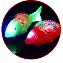 1pc LED Swing Fish Light Glowing colorful blinking lamps as Children's Day kid's boys toys gifts for party decorations