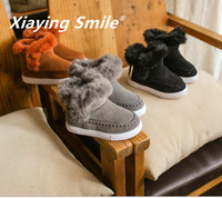 Autumn Winter New Style Girls Boys Snow Boots Villus Warmth Retention Fashion Thicken Keep Warm Soft And Comfortable Solid Color