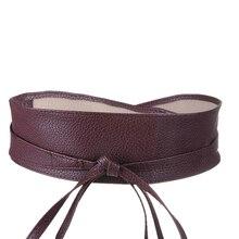 Metallic Faux Leather Wide Belt SR01