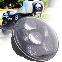 LED Harley Headlight 45W High Low Beam LED Projector Headlight for Motorcycle Iron 883,harley sportster