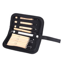 Carving Knife Hand Chisel Carpentry Tools Engraving Suit Wood Color 12 Piece Set Sturdy Durable Wenwan Tool Woodworking