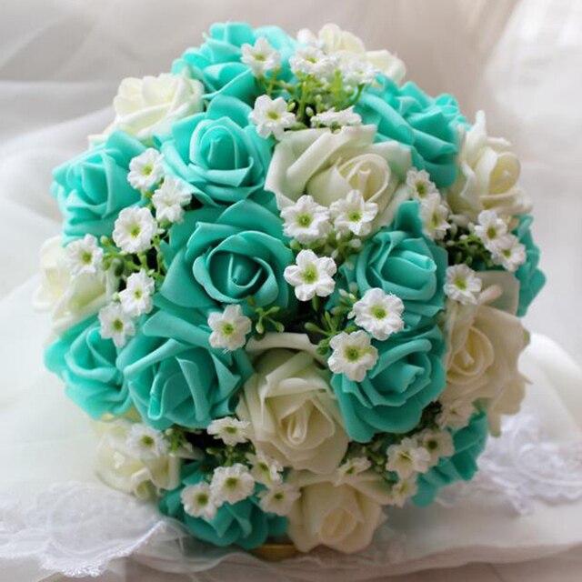 Bien connu De mariage Bleu et Blanc Bouquet De Mariage À La Main Fleur  SX28