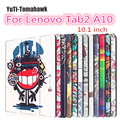 Tab 2 A10 30 Colorful Print Leather Case Cover for Lenovo Tab 2 a10-30 X30F X30L Tablet 10.1 inch Magnet Case gift protctor +pen