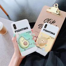 Fruit Pattern TPU Soft Case For iPhone X XMAX XR Durian or Avocado Pattern Back Cover For iPhone 6 7 8 6 PLUS 7 PLUS Capa Funda ikki s pattern protective tpu back case for iphone 6 4 7 blue