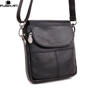 Young Fashion The First Layer Of Cow Leather Mini Men Messenger Bag Small Single Shoulder Bag