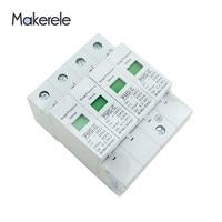 SPD 4P 20KA~40KA ~385VAC Low voltage House Surge Protector Protective Arrester Device Voltage Protective Device From Makerele