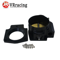 VR RACING 92mm Throttle Body +Manifold Adapter Plate for LS LS2 LS3 LS6 LS7 LSX BLACK VR6937+TBS41